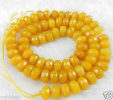 """5x8mm Natural Faceted Topaz Abacus Gemstone Loose Beads 15"""""""