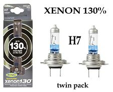 Anello 130% Super Luminosi Bianchi Xenon Upgrade H7 Lampadina Twin Pack xenon130% rw3377