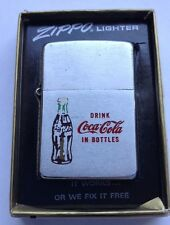 1962 COCA COLA ZIPPO LIGHTER DRINK COCA COLA IN BOTTLES