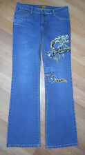 "EUC An for  Me denim JEANS DRAGON sz 30x34"" USA BEADED L@@K RARE"