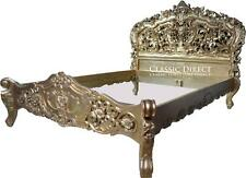 Bed Queen Gold Leaf Rococo French Provincial SRP $4000