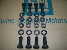 NOS R rear drum backing plate axle retainer bolts & nuts hardware kit     Chevy