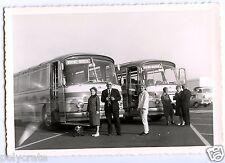 Portrait famille & voiture ancienne autocar car - photo ancienne an. 1960