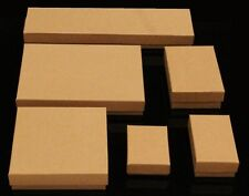 Cotton Filled Jewelry 6 Assorted Boxes Sizes Kraft 53 Pcs.See Description