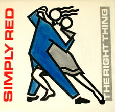 """SIMPLY RED """"THE RIGHT THING/There's A Light"""" ELEKTRA 7-69487 (1988) 45 & PIC SLV"""
