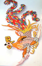 PHOENIX LYRE BIRD PARADISE Embroidered Iron Sew On Cloth Patch Badge  APPLIQUE