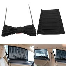 2x Adjustable VIP Car Window Windscreen Mesh Style Curtain Sun Shade Visor Black