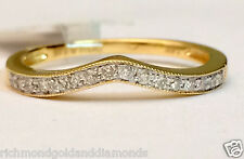 Yellow Gold Diamond Solitaire Wrap Ring solitaire enhancer contour band Curve