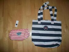 NEW Gap California Striped Tote Cosmetic Bag Set Purse Case New With Tags