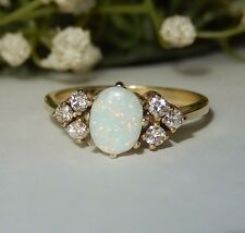 585er Goldring, Brillanten - 0,24 ct, Opal !!