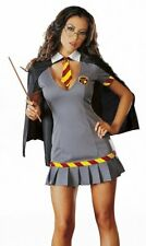 WOMENS LADIES SEXY HARRY / HERMIONE WIZARD SCHOOL FANCY DRESS COSTUME OUTFIT