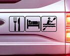 1x EAT SLEEP KAYAKING BOAT CAR STICKER DECAL KAYAK
