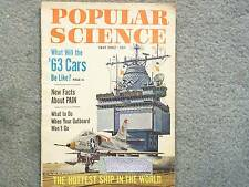 1962 POPULAR SCIENCE JULY VOL 181 NO. 1  '63 CARS  FACTS ABOUT PAIN  HOTTEST SHI