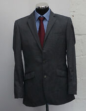 MS67 STVDIO JEFF BANKS MEN'S GREY STRIPED 100% WOOL 2 PIECE SUIT CHEST 38R W32R