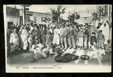 Tunisia TUNIS Snake Charmers with crowds LL early PPC