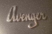 "1972 ROOTS HILLMAN ""AVENGER"" CHROME Letter CAR BADGE"