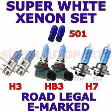 CHRYSLER PT CRUISER 2000-ON   SET H3  H7  HB3 501  XENON SUPER WHITE LIGHT BULBS