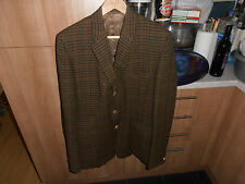 """Vtg DAKS Tweed Jacket with Horn Buttons size 42"""""""