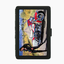 Sexy Motorcycle D10 Black Cigarette Case / Metal Wallet Hot Model