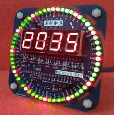 DIY DS1302 ROTATION LED ELECTRONIC CLOCK KIT 51 SCM LEARNING BOARD UK STOCK UK