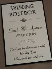 Handmade Personalised Vintage Style Portrait Wedding Post Box Wishing Well Sign