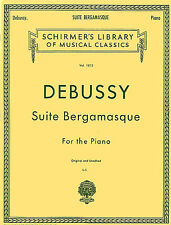 Claude Debussy Suite Bergamasque Learn to Play Piano Sheet Music Book Classical