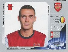 N°086 VERMAELEN # BELGIQUE ARSENAL.FC CHAMPIONS LEAGUE 2013 STICKER PANINI