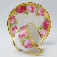 Royal Albert Old English Rose Heavy Gold Tea Cup & Saucer c.1927 more available