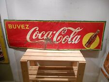 "1930'S COCA COLA COKE LARGE 56"" X 17"" SODA BOTTLE TIN SIGN * NO RESERVE"