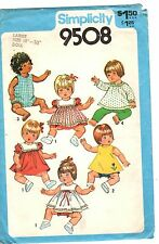 "Vintage Simplicity Sewing Pattern BABY DOLL CLOTHES 9508 18"" & 20"" High UNCUT"