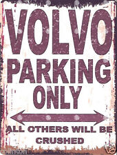 VOLVO PARKING SIGN RETRO VINTAGE STYLE 6x8in 20x15cm garage workshop