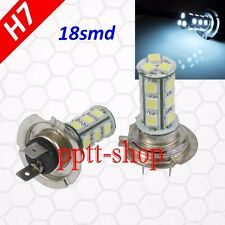 H7 (1 Pair) LED 18 SMD White Xenon 6000K Headlight Light Bulb Motorcycle Bike