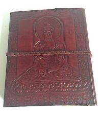 Diary Thick Leather Recycled Buddha Embossed Notebook Vegetable Dye Journal