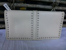 BRIGHTON NWT PRETTY TOUGH CREAM WHITE  LEATHER WALLET