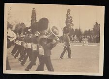 Antique Photograph Palace Guards Marching Band Playing Instruments Music
