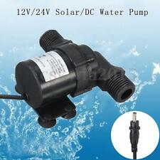 700L/H Solar DC 12V 24V Submersible Brushless Hot Water Fish Tank Pond Pump