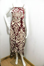 4911 Floral-Women-Long-Maxi-summer-beach-hawaiian-Boho-casual-sundress-L/XL WINE