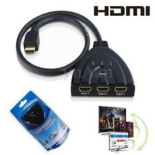 Nuovo 3 Porte Way 1080P HDMI Switch Sdoppiatore Hub Box Cavo LCD HDTV 3 IN 1 OUT