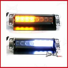 3 Flash Mode Amber White Emergency Flashing Strobe LED Safety Warning Light