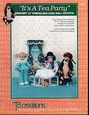 """IT'S A TEA PARTY 14"""" DOLL DRESS CROCHET PATTERN BOOK"""