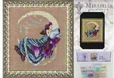 MIRABILIA Cross Stitch PATTERN and EMBELLISHMENT PACK Moon Flowers MD137