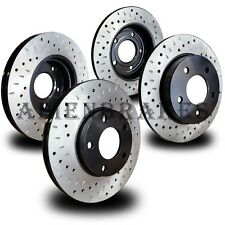 CHE076S Corvette 84-87 Brake Rotors Set Front+Rear Cross Drill & Dimple Slots