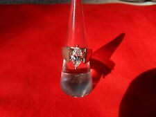 RING sz 6 Marquise solitaire Cubic Zirconia Sterling silver 925 DQ CZ diamonique