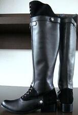 Hunter Wardour rodilla altura botas piel botas señora botas de caña negro gr38 nuevo