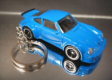 Blue Porsche 934 Turbo RSR Diecast Custom 3D Key Chain Ring Fob
