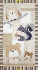 Timeless Treasures 100% Cotton Patchwork, Quilting Fun Animals Nursery Panel