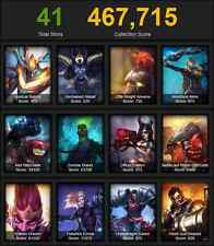 Collector League of Legends account, all champions! full rune pages! 8800 RP!