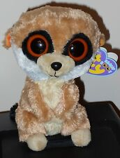 "NM* Ty Beanie Boos ~ REBEL the 6"" Meerkat ~ NEAR MINT with NEAR MINT TAGS"