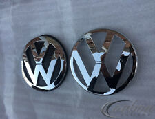 VW Golf MK4 Chrome Front Grille & Rear Boot Badge Emblems UK Seller