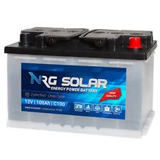 NRG Solarbatterie 12V 100Ah Wohnmobil Versorgung Solar Boot Camping Batterie